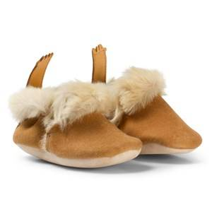 Easy Peasy Unisex Shoes Beige Beige Oxi Minion Shearling Crib Booties