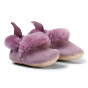 Easy Peasy Girls Shoes Pink Pale Pink Parme Shearling Crib Booties