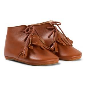 Easy Peasy Girls Shoes Brown Brown Fringe MexiP Shoes Anti Slip Sole