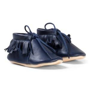 Easy Peasy Boys Shoes Navy Ink Meximoo Moccasin Crib Shoes
