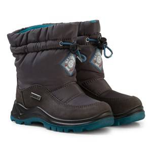 Naturino Unisex Boots Grey Varna Waterproof Boots Dark Grey