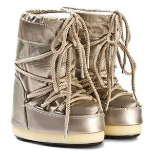 Moon Boot Unisex Boots Silver Moon Boot Glance Platinum