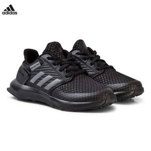 adidas Performance Boys Sneakers Black Black RapidaRun Kids Trainers