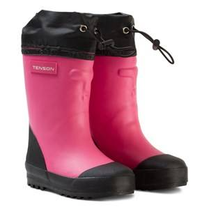 Tenson Unisex Boots Pink Muggy Lined Wellies Cerise