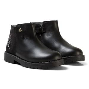 Stuart Weitzman Girls Boots Black Black Leather Jewel Ankle Boots