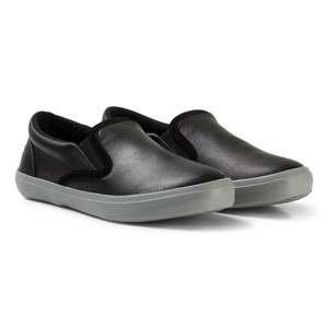 United Colors of Benetton Boys Shoes Black Slip On Runners Sneakers Black