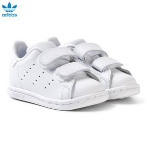 adidas Originals Unisex Sneakers White All White Stan Smith Infants Velcro Sneakers