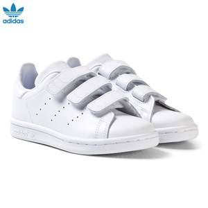 adidas Originals Unisex Sneakers White Stan Smith Velcro Trainers White