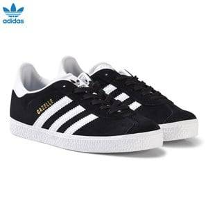 adidas Originals Unisex Sneakers Grey Black and White Gazelle Kids Trainers