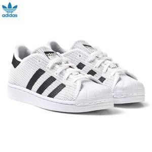 adidas Originals Unisex Sneakers White White and Black Superstar Kids Trainers