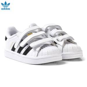 adidas Originals Unisex Sneakers White White and Black Superstar Infant Trainers