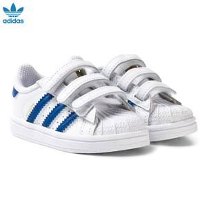 adidas Originals Boys Sneakers White White and Blue Superstar Infant Trainers