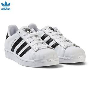 adidas Originals Unisex Sneakers White White and Black Junior Superstar Trainers