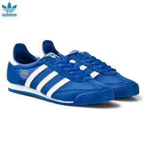 adidas Originals Boys Sneakers Blue Blue and White Dragon Junior Trainers