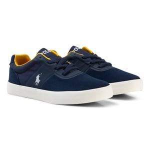 Ralph Lauren Boys Sneakers Navy Navy Suede Hanford HM Laced Trainers