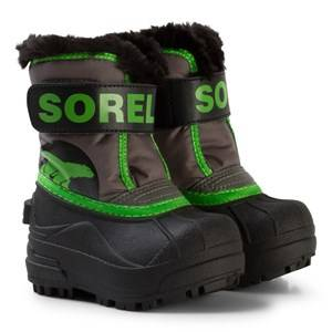 Sorel Unisex Boots Grey Toddler Snow Commander™ Boots Quarry/Cyber Green
