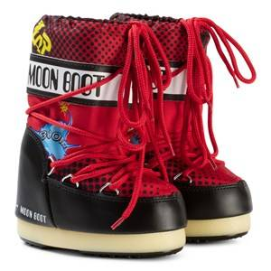 Moon Boot Unisex Boots Black Moon Boot Comics Black/Red