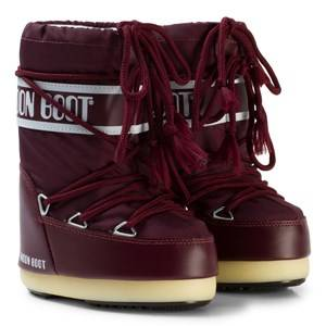 Moon Boot Unisex Boots Red Moon Boots Nylon Burgundy