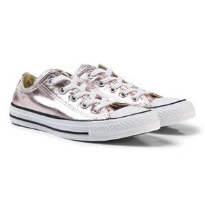 Converse Girls Sneakers Pink Pink Junior Chuck Taylor All Star Metallic Canvas OX
