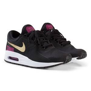 NIKE Girls Sneakers Black Black and Gold Nike Air Max Zero Essential Junior Trainers