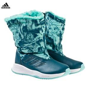 adidas Performance Boys Boots Blue Disney Frozen Rapida Kids Snow Boots