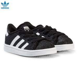 adidas Originals Boys Sneakers Black Black and White Superstar Infant Trainers