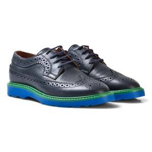 Paul Smith Junior Boys Shoes Navy Navy Leather Brogues with Contrast Detail