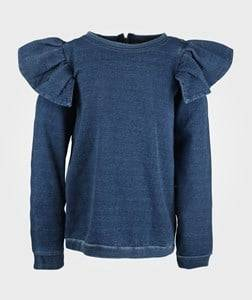 Image of The BRAND Girls Private Label Tops Blue Flounce Col. Jegging Terry indigo