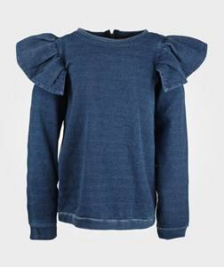 The BRAND Girls Childrens Clothes Tops Blue Flounce Col. Jegging Terry indigo