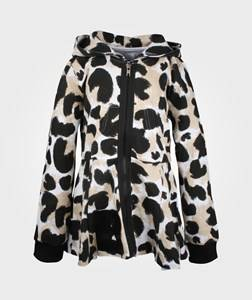 The BRAND Girls Childrens Clothes Jumpers and knitwear Brown Peeplum Hoodie LEO AOP
