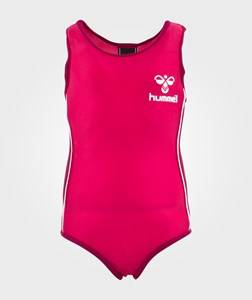 Hummel Girls Childrens Clothes Swimwear and coverups Pink Vanessa Swimsuit Ss15