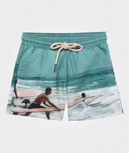 OAS Boys Childrens Clothes Swimwear and coverups Blue Surfer Swim Trunks