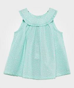 United Colors of Benetton Girls Childrens Clothes Tops Blue Micro Heart Blouse Aqua