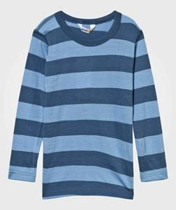Joha Unisex Childrens Clothes Tops Blue Striped Tee Blue