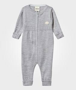 Lillelam Girls Childrens Clothes All in ones Grey Basic Onesie Light Grey