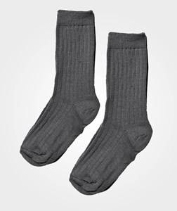 Lillelam Unisex Childrens Clothes Underwear Grey Two Pack Wool Socks Grey