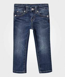United Colors of Benetton Boys Childrens Clothes Bottoms Blue Slim Fit Jeans Washed Denim Blue