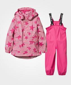 Ticket to heaven Unisex Childrens Clothes Clothing sets Pink Rubber Rain Set Beetroot Purple/ Stars & Stripes