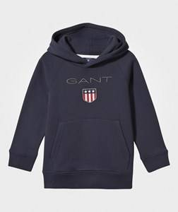 Gant Boys Childrens Clothes Jumpers and knitwear Navy Shield Hoodie Navy