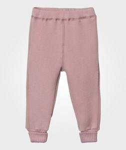 Mikk-Line Girls Bottoms Pink Wool Pants Wild Rose