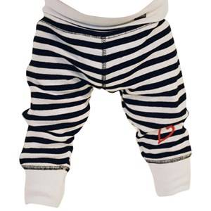 Lundmyr Of Sweden Unisex Childrens Clothes Bottoms White Pants Classic Striped