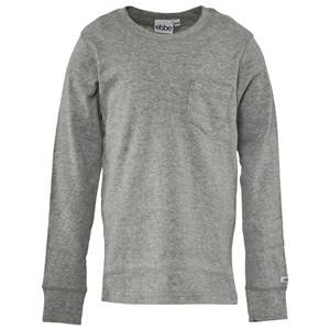 eBBe Kids Unisex Childrens Clothes Tops Grey Eskil Long Sleeved T-shirt Grey
