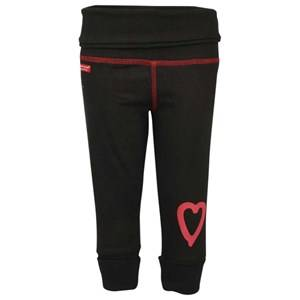 Lundmyr Of Sweden Unisex Childrens Clothes Bottoms Black Black Pant With Heart