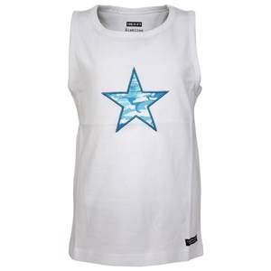 Lundmyr Of Sweden Boys Tops Tank Top White W. Blue Star
