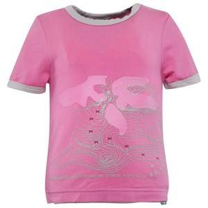 Isbjörn Of Sweden Girls Childrens Clothes Tops Pink Mountain Tee Azalea