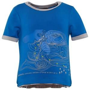 Isbjörn Of Sweden Boys Childrens Clothes Tops Blue Mountain Tee Blue