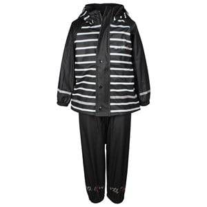 Lundmyr Of Sweden Unisex Childrens Clothes Clothing sets Rainwear Black/White