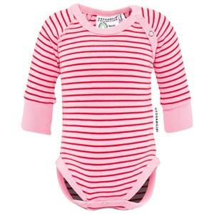 Geggamoja Girls Childrens Clothes All in ones Pink Body Classic Pink/Red