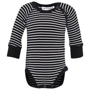 Geggamoja Unisex Childrens Clothes All in ones Black Body Classic Black/White