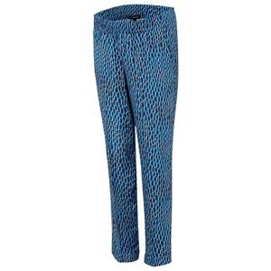 Isabella Oliver Unisex Maternity Clothes Maternity bottoms Blue Aisla Print Maternity Trousers Blue Dot Print Blue Dot Print